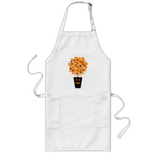 Halloween Skull Topiary Long Apron