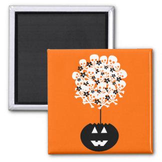 Halloween Skull Topiary Magnet