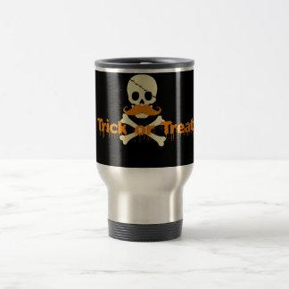 halloween skull travel mug