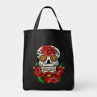 Halloween skull treat bag