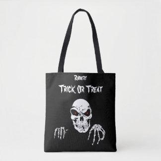 Halloween Skull Trick or Treat Tote Bag