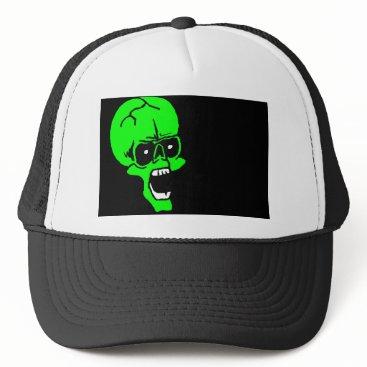 Halloween Themed halloween skull trucker hat