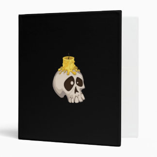 halloween - skull with candle binder
