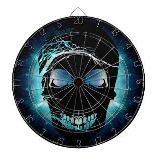 Halloween Skull with magic blue light 2 Dartboard With Darts