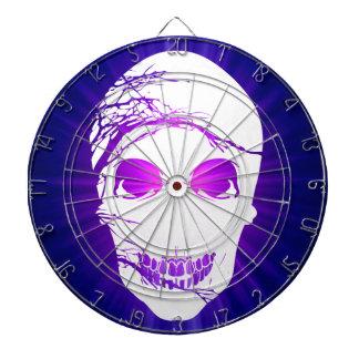 Halloween Skull with magic blue purple light 2 Dartboard