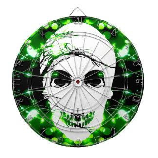Halloween Skull with magic green light Dart Board
