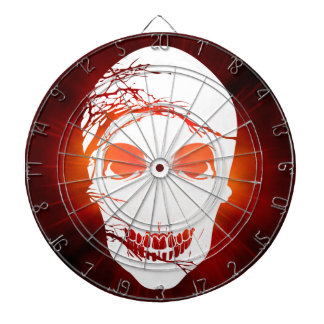 Halloween Skull with magic red light Dartboard With Darts