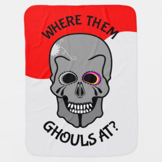 Halloween Skull Swaddle Blanket