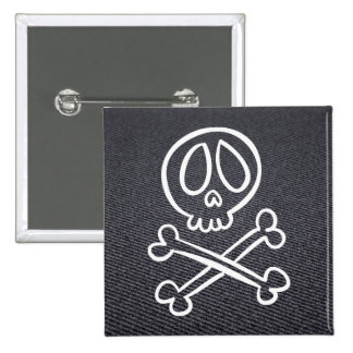 Halloween Skullies Pictograph 2 Inch Square Button