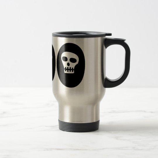 "Halloween Skulls ""Boo"" Travel Mug"