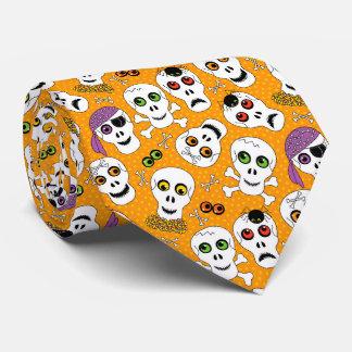 Halloween Skulls Tie