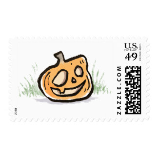 Halloween Smiling Pumpkin Stamp