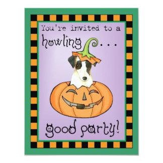 Halloween Smooth Fox Terrier Card