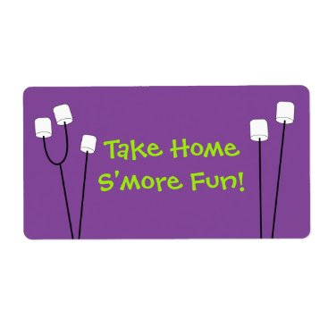 partypapercreations Halloween S'mores Party Favor Bag Tag