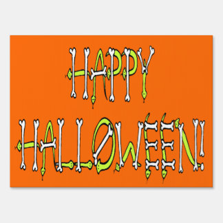Halloween Snakes and Bones Text Sign