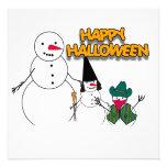 Halloween Snowmen Personalized Invitation