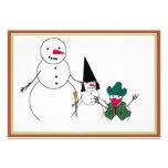 Halloween Snowmen Personalized Invite