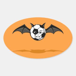 Halloween Soccer or Football Vampire Bat Oval Sticker