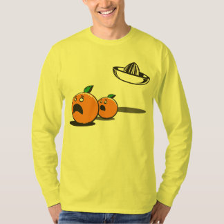 Halloween - sombrero divertido y calabazas del UFO Playera