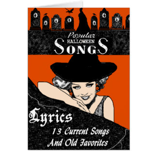 Halloween Song book Greeting Card