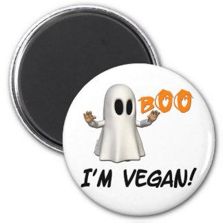 Halloween soy vegano imán redondo 5 cm