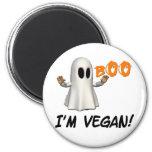 Halloween soy vegano imán de frigorifico