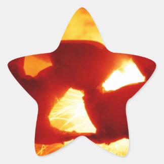 Halloween  sparky pumpkin star sticker