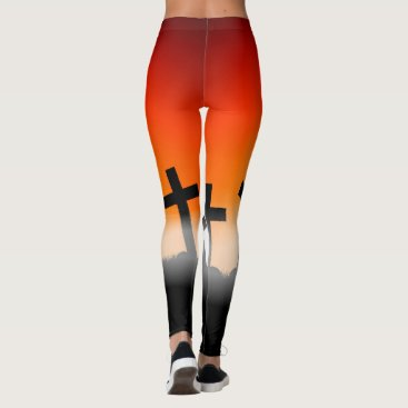 Halloween Themed Halloween Special with Crosses Leggings