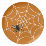 Halloween Spider and Web Dinner Plates