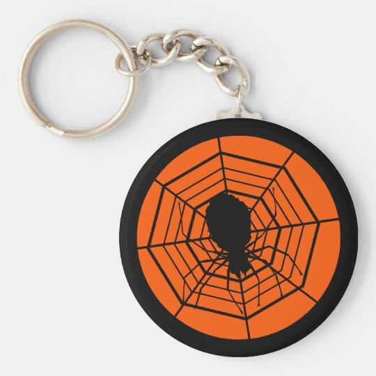 Halloween Spider and Web Keychain