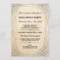 Halloween Spider Black Gothic Frame Party Invite