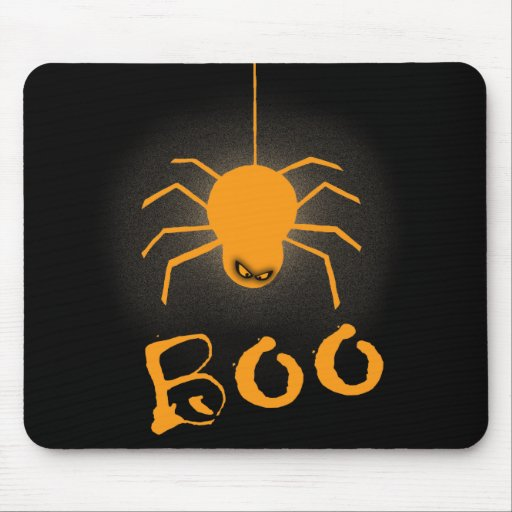 Halloween Spider Boo Mousepads