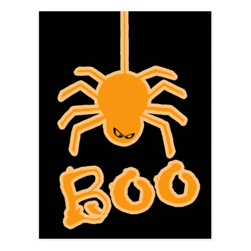 Halloween Spider Boo Post Cards