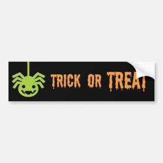 Halloween Spider Bumper Sticker