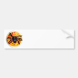 Halloween Spider Cookie Car Bumper Sticker