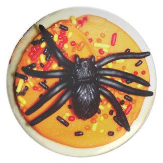 Halloween Spider Cookie Dinner Plate