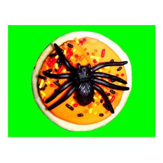 Halloween Spider Cookie Postcard