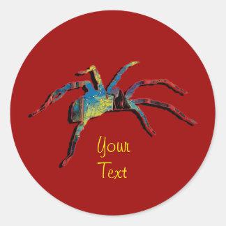 Halloween spider creepy crawly stickers