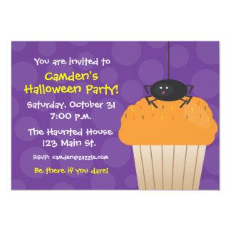 Halloween Spider Cupcake Invitation