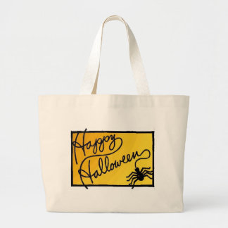 Halloween Spider Decoration Large Tote Bag