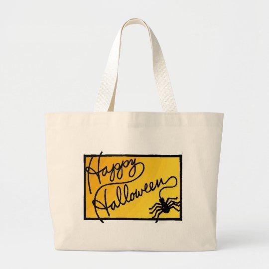 Halloween Spider Decoration Large Tote Bag