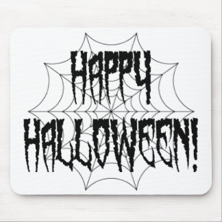 Halloween Spider Fingers and Web Mouse Pads