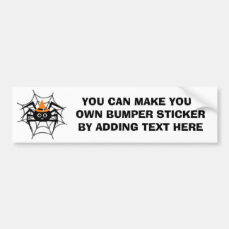 Halloween Spider in Web Tshirts and Gifts Bumper Sticker