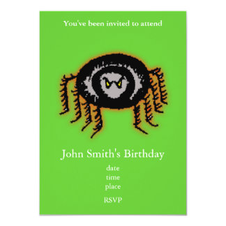 Halloween Spider Personalized Invitations