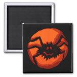 Halloween Spider Jack O Lantern Fridge Magnets