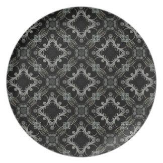 Halloween spider kaleidoscope dinner plate