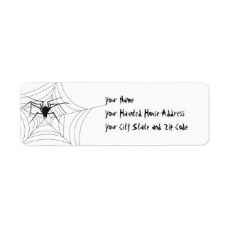 Halloween Spider Label
