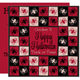 Halloween spider mosaic invitation