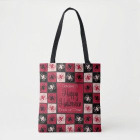 Halloween spider mosaic tote bag