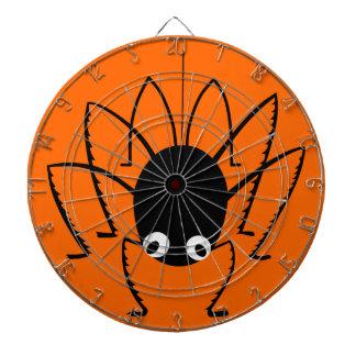 Halloween Spider Orange Dart Board with Darts